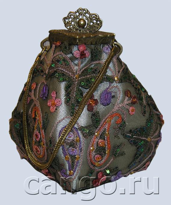 сумка женская винтажная коническая