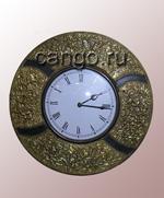 Часы настенные золотистые с полосками